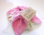 Gift wrapping: Fabric Flower Jewelry Pouch