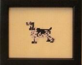English Cocker Spaniel Cross Stitched Full Body Dog.