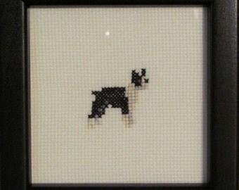 Boston Terrier Cross Stitched Full Body Dog.