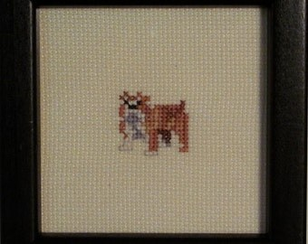Bulldog Cross Stitched Full Body Dog.