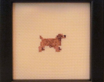 Norfolk Terrier Cross Stitched Full Body Dog.