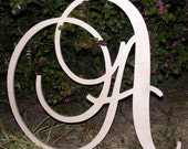 "26"" Large  Wooden Wall Letters - Monogram Letters- Wedding Decor Letters"