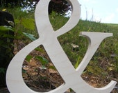 """6"""" Wooden Ampersand Photography UNPAINTED - DIY - Wedding Decor - Engagement-Wooden Alphabet Letters- Photography prop"""