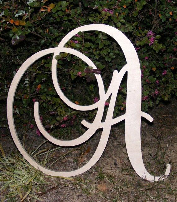 24 large wooden wall letters monogram letters for Large initial letters