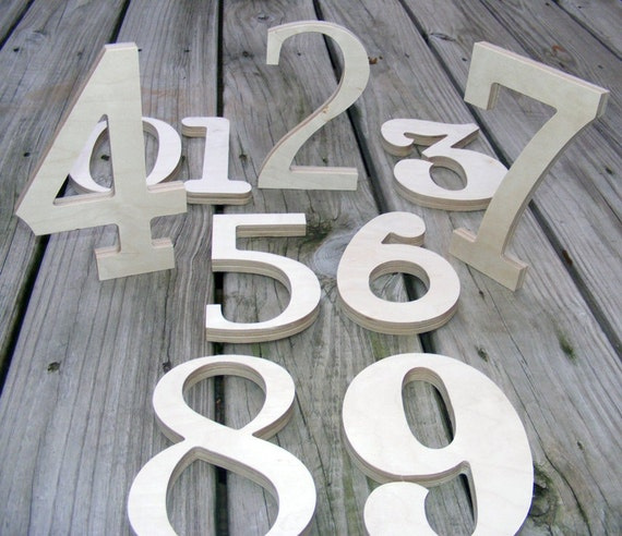 Wood Numbers- Wedding Table Numbers - Birthday Decor / Wedding Decor / Room Nursery Decor - ship next day