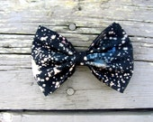 hand dyed galaxy fabric hair bow