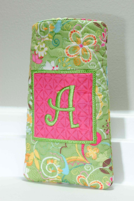 Initial Sunglasses case - Personalized initial embroidered on front