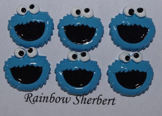 Cookie Monster Cabochon- Flatback