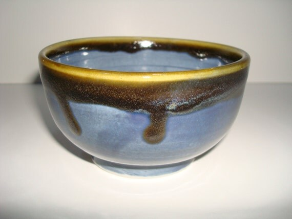 Sky Blue and Brown Bowl