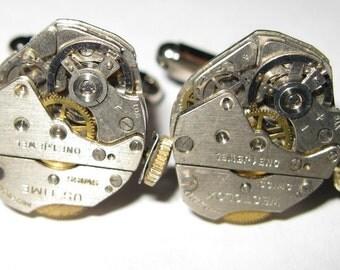 Industrial Watch Movement Steampunk Cufflinks