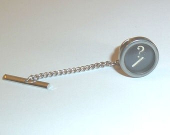 Custom Vintage Typewriter Tie Tack your choice of letters or numbers