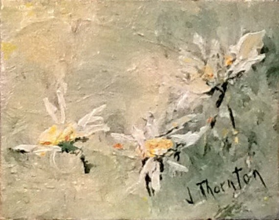 daisies, original painting