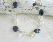 Lapis and Pearl Necklace-...