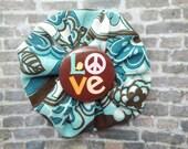 LOVE Pinwheel Hairclip