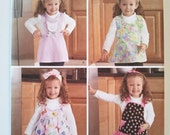 Simplicity 2699, Toddlers Aprons and Headbands by Teri, Size Half, 1, 2, 3, 4