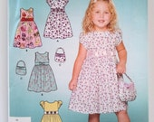 Simplicity 4250, Childs Dress and Purse, Size 3, 4, 5, 6, 7, 8