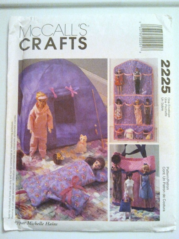 McCalls 2225, Fashion Doll Organizers and Accessories by Michelle Hains