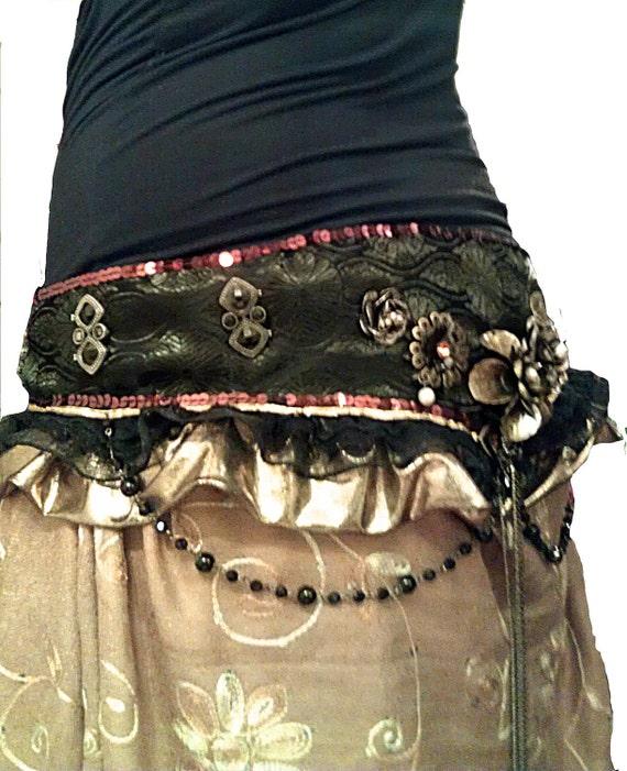 Gothic Steampunk Belly Dance Belt