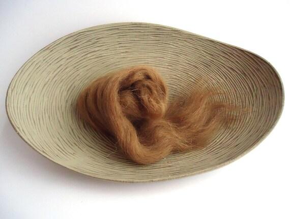 Camel Hair Top Roving 10g 0.35oz Natural Brown