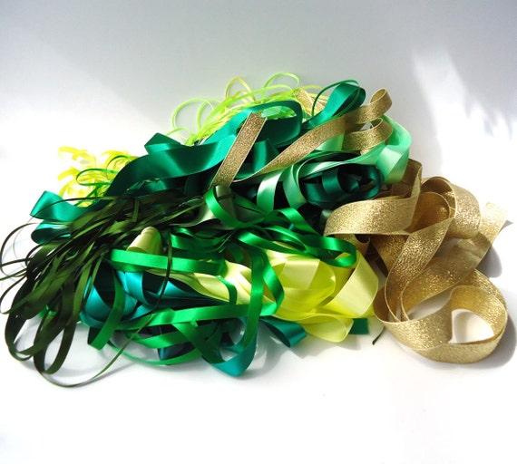 Ribbon - Mixed Bag - Greens