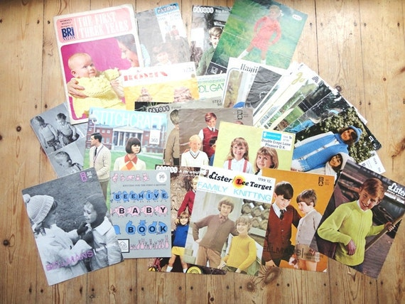 Vintage Knitting Patterns and Booklets