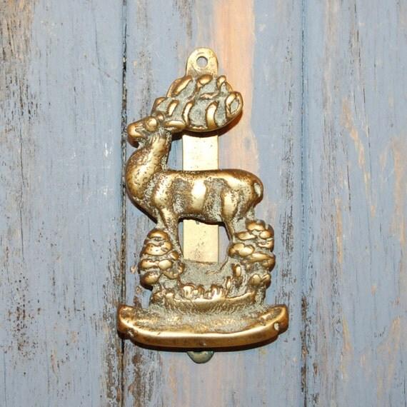 Antique Stag Door Knocker Brass