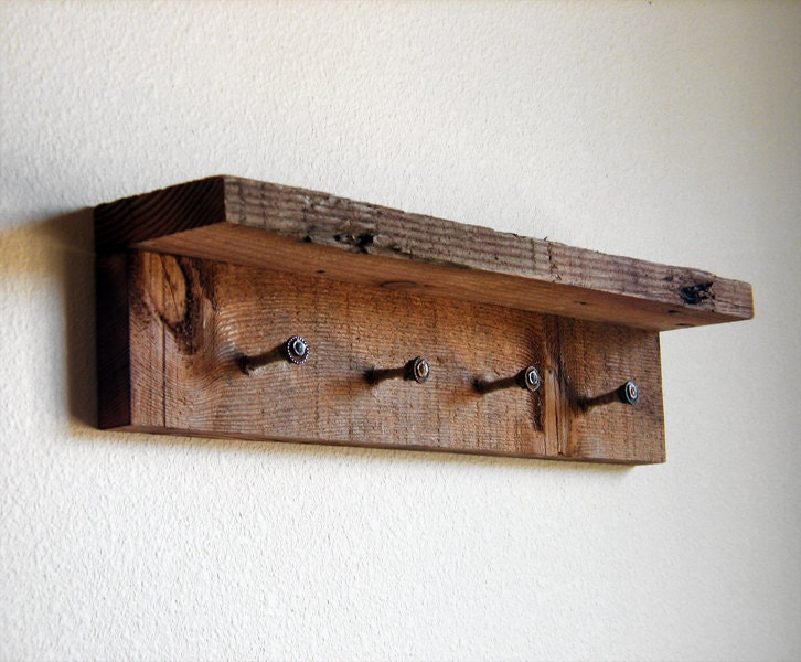 Wooden key rack for wall