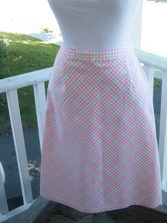 Clearance Brooks Brothers Vintage 1970's Pink  Skirt Size 4