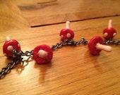 Woodland Mushroom Charm Bracelet
