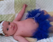 Blue Tutu with white bow, avaliable in newborn to 12 months and pets sizes