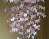 "23"" in diameter Butterfly Chandelier, mobile, home decor, wedding decor"