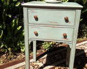 Shabby Chic, French Country Cottage, Vintage Wooden Accessory Side Table