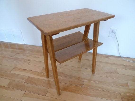 Reserved: Mid-Century Imperial Side Table