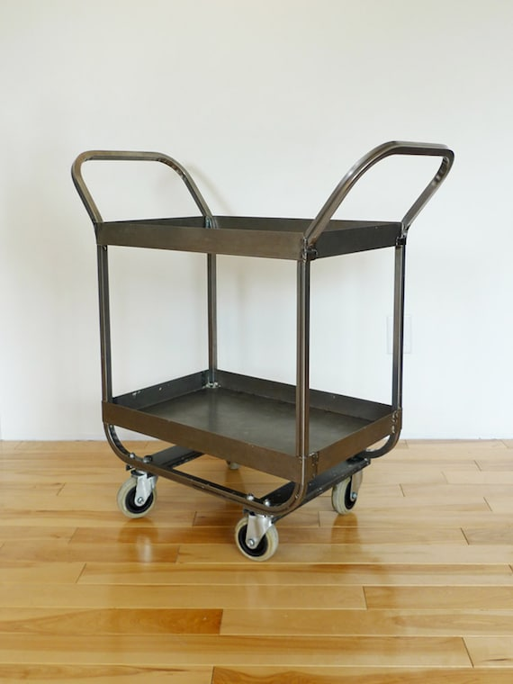 RESERVED: Vintage Steel Industrial Supply Cart