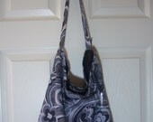Slouch Bag - Rae Essence Handbags - Gray & black
