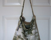 Slouch Bag - Rae Essence Handbags - Tropical green & white
