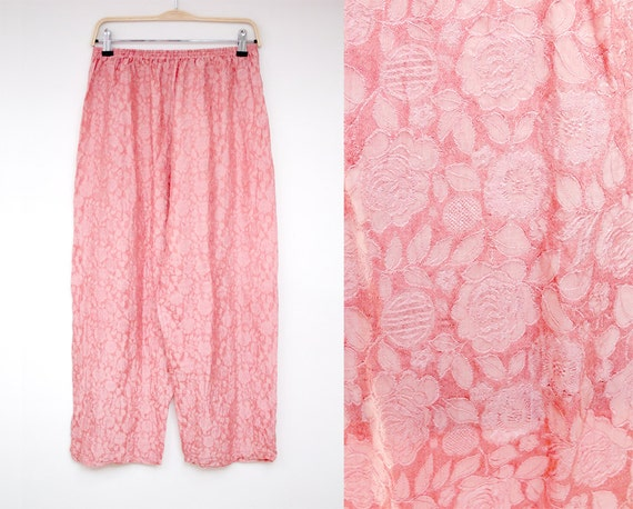 light Pink trousers with flowers