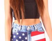 Ralph Lauren American Flag High Waisted Shorts