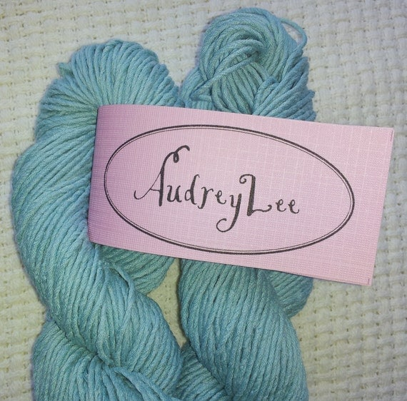 Reclaimed  Aqua Fingering Weight Yarn, Silk and Cotton blend