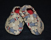 Sock Monkey Baby Shoes Gender Neutral (Boy or Girl) - any size 0-18 month