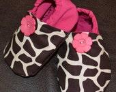 Glamorous Giraffe Baby Girl Shoes Custom Order any size