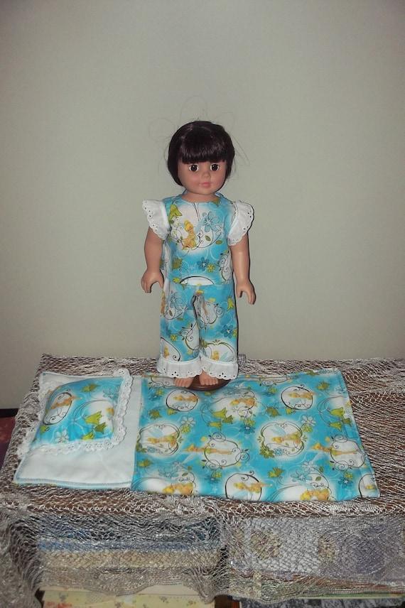 Tinkerbell pajamas and matching sleeping bag