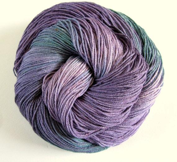 BLUEBERRY - 4 ply superwash sock yarn - hand dyed - ultrafine merino and silk - 400 meters