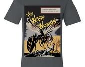 Wasp Woman Vintage Science Film Poster T-Shirt Mens - Asphalt