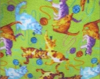 Small Plush Fleece Cat Bed