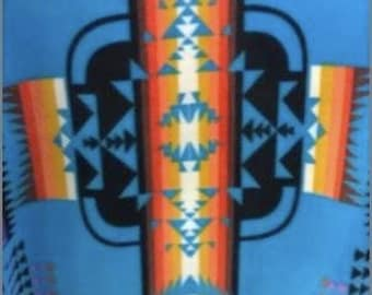 On Sale 3 Days Only!!!!Adult or Teen double layer fleece Indian Print Made to Order Blankets