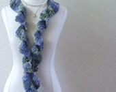 LAVANDER RUFFLED SCARF Gift Crochet Feminine Girls Women Fashion Chic Modern Spring Fall Handmade in America