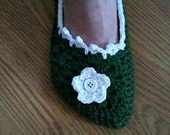 Crochet Women's Slippers - Made to Order Sizes Small, Medium, and Large