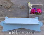 Rectangle Sky blue Cardboard CAKE STAND party display