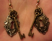 Lock N Key Earrings